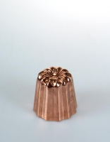 De Buyer Copper Canele Mould Fluted 4.5cm