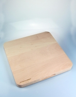 The Essential Ingredient Beech Square Chopping Board with Round End 35cm x 35cm