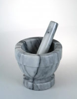 Judge Marble Mortar & Pestle - White 13cm x 11.5cm