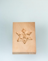 The Essential Ingredient Pear Wood Shortbread Mould - Star Design 6cm x 8cm