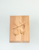 The Essential Ingredient Pear Wood Shortbread Mould - Christmas Bell Design 6cm