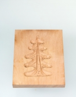The Essential Ingredient Pear Wood Shortbread Mould - Christmas Tree Design 9cm