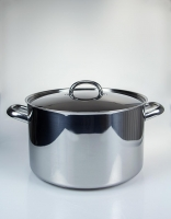 The Essential Ingredient Stainless Steel Stockpot with lid 28cm