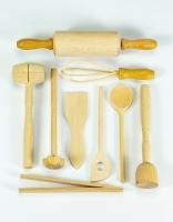 The Essential Ingredient Beech Wood Children's Cooking Utensil Set