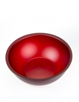Acrylic Glass Salad Bowl - Cherry Red 29.5cm