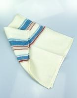 The Essential Ingredient Pure Linen Tea Towel - Blue/Red Stripes 80cm x 47cm