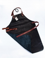 Yako & Co. Leather Apron Black